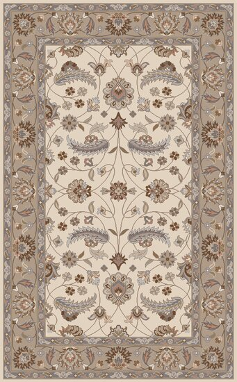 Keefer Antique White Floral Area Rug by Charlton Home