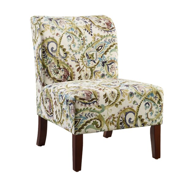 Willimantic Floral Curved Back Slipper Chair by Charlton Home