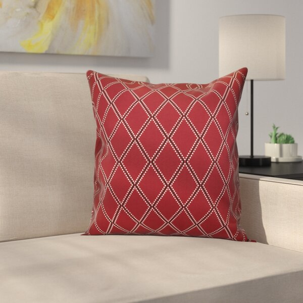 Decorative Holiday Geometric Print Outdoor Throw Pillow by Latitude Run