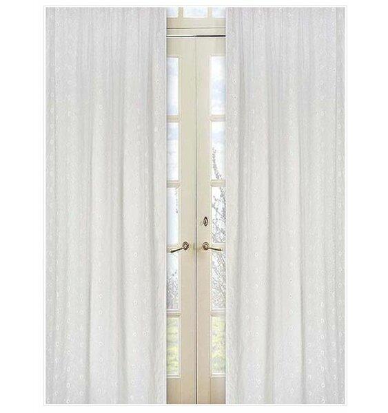Nature/Floral Semi-Sheer Rod Pocket Curtain Panels (Set of 2) by Sweet Jojo Designs