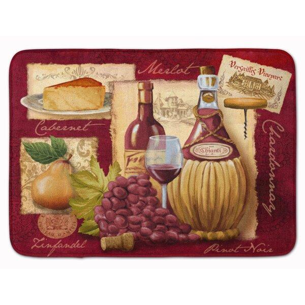 Blaisdell Wine and Cheese Memory Foam Bath Rug by Fleur De Lis Living