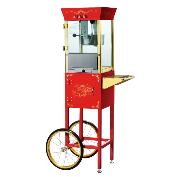 8 Oz. Matinee Antique Popcorn Machine & Cart by Great Northern Popcorn