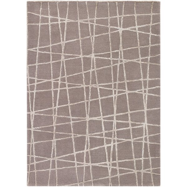 Priscilla Patterned Contemporary Taupe/Beige Area Rug by Corrigan Studio
