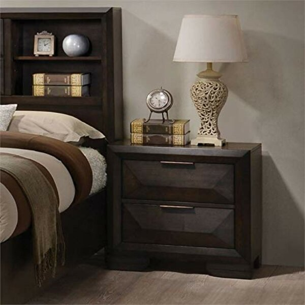 Maumee Wooden 2 Drawer Nightstand by Modern Rustic Interiors