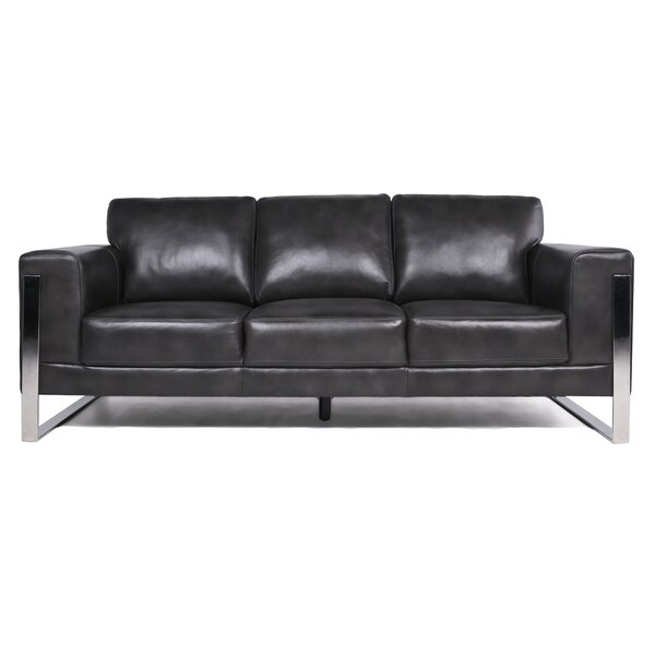 Lowest Price For Olivarez Leather Sofa by Orren Ellis by Orren Ellis