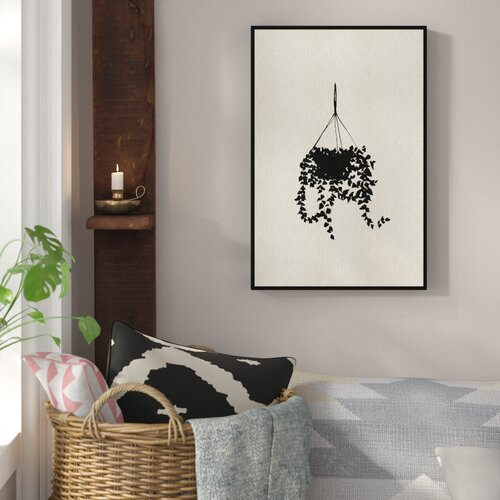 Sky Planter�- Floater Frame Painting Print East Urban Home Size: 61 cm H x 41 cm W