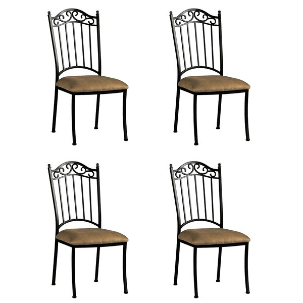 Winnie Iron Side Upholstered Dining Chair (Set of 4) by Darby Home Co Darby Home Co