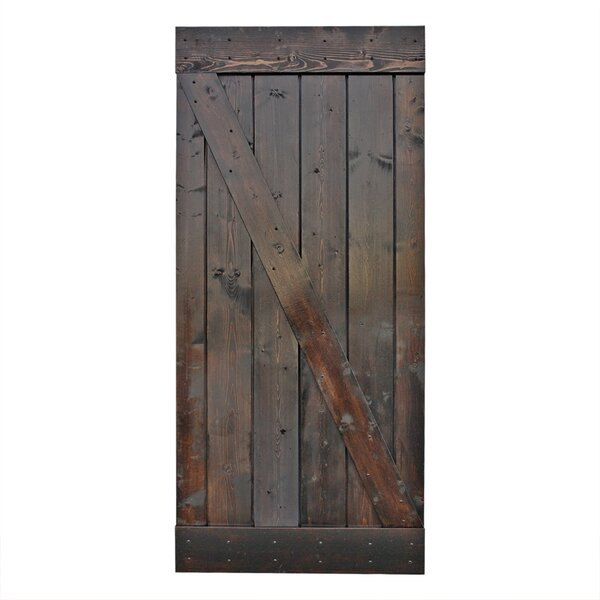 Stain Knotty Pine Sliding Wood Interior Barn Door by Calhome