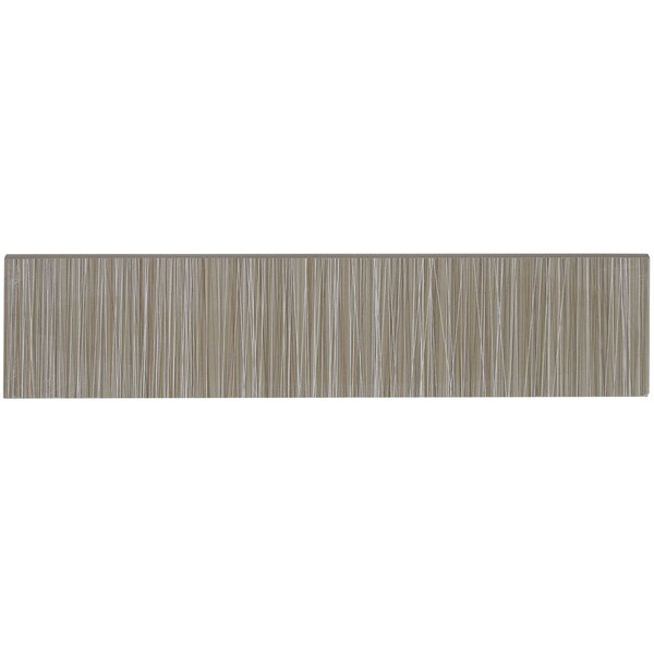 Fabrique 12 x 3 Porcelain Bullnose Tile Trim in Gris Linen by Daltile