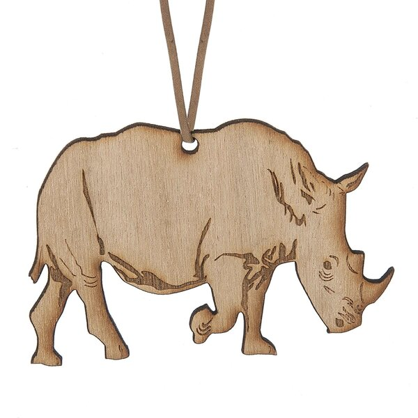 Rhino Hanging Figurine by Bloomsbury Market
