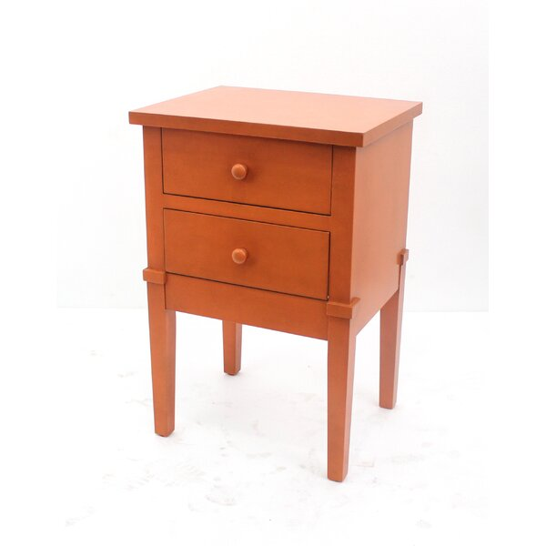 Etchemin 2 Drawer Wood Cabinet Chest by World Menagerie