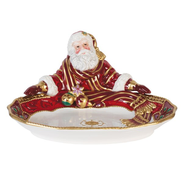 Renaissance Holiday Santa Platter by Fitz and Floy