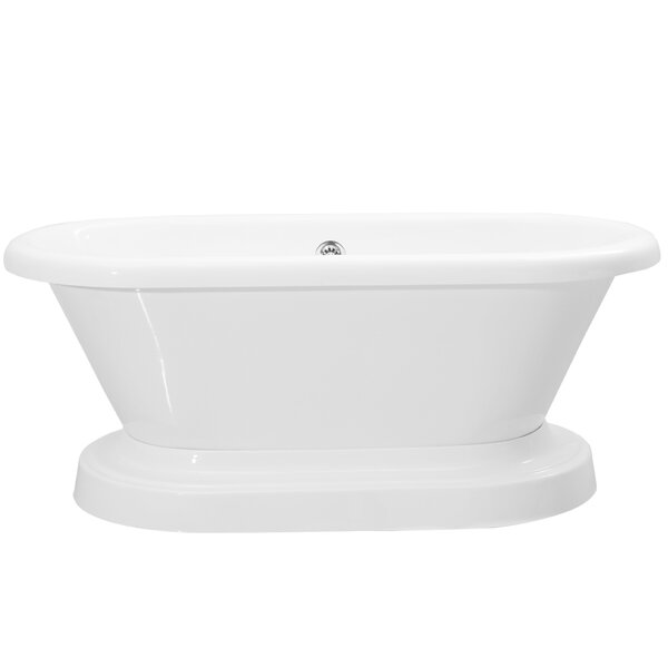 Ischia 60 x 30 Freestanding Soaking Bathtub by Vinnova