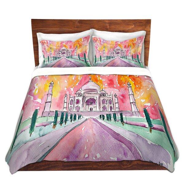 Pillager Markus Bleichner Taj Mahal Colorful Microfiber Duvet Covers by World Menagerie