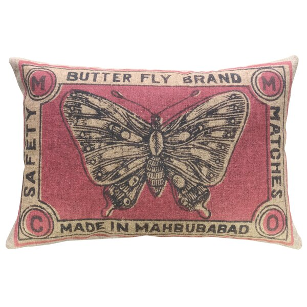 Hockman Butterfly Brand Linen Throw Pillow by Bloomsbury Market