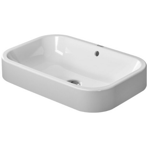 Happy D. Ceramic Rectangular Vessel Bathroom Sink with Overflow by Duravit