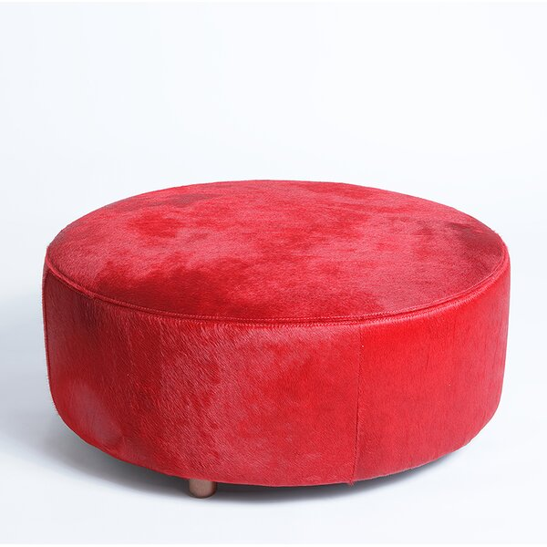 Cobden Leather Pouf by Foundry Select