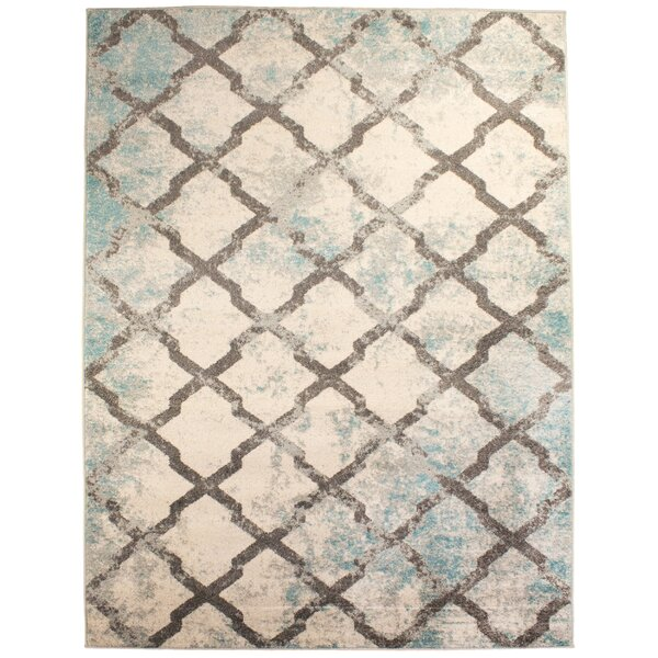 Benoit Distressed Blue/Gray Area Rug by Bungalow Rose