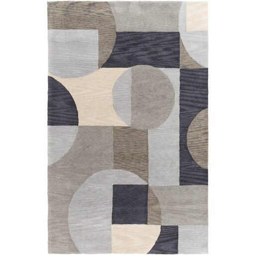 Dittmar Hand-Tufted Brown Area Rug by Ebern Designs