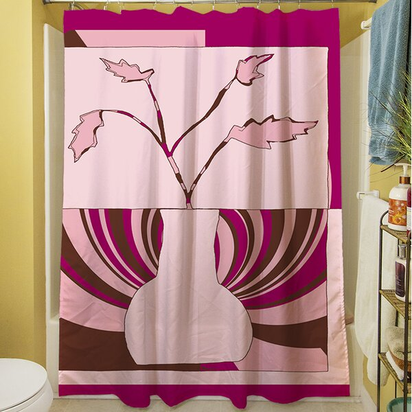 Minimalist Flowers I Shower Curtain by Manual Woodworkers & Weavers