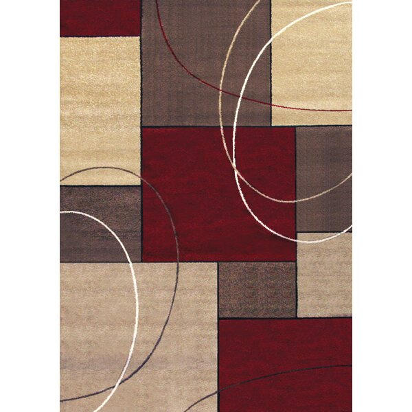 Fannie Beige/Red Area Rug by Latitude Run