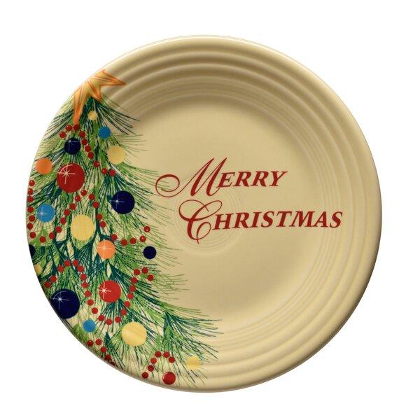 Merry Christmas 9 Desert Plate by Fiesta