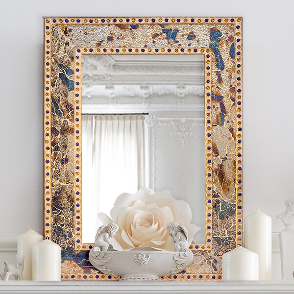 Decorative Crackled Glass Mosaic Wall Mirror by DecorShore