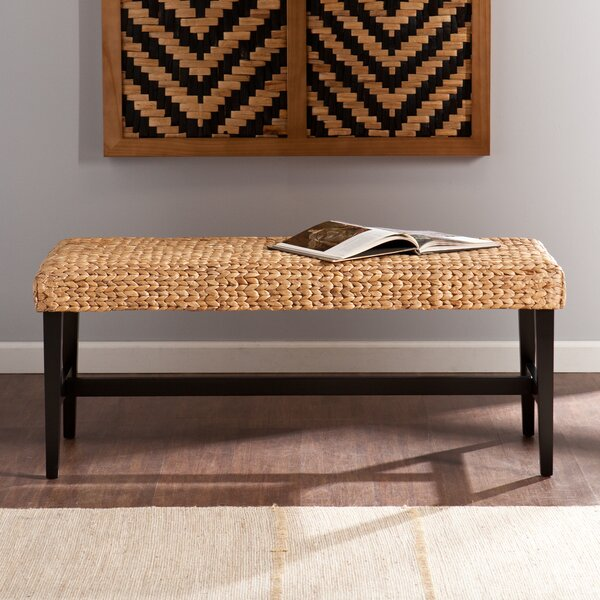 Eaton Wood Bench By Beachcrest Home Today Only Sale