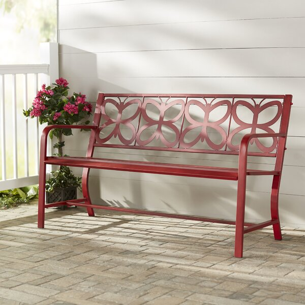 Nicholls Metal Garden Bench by Latitude Run