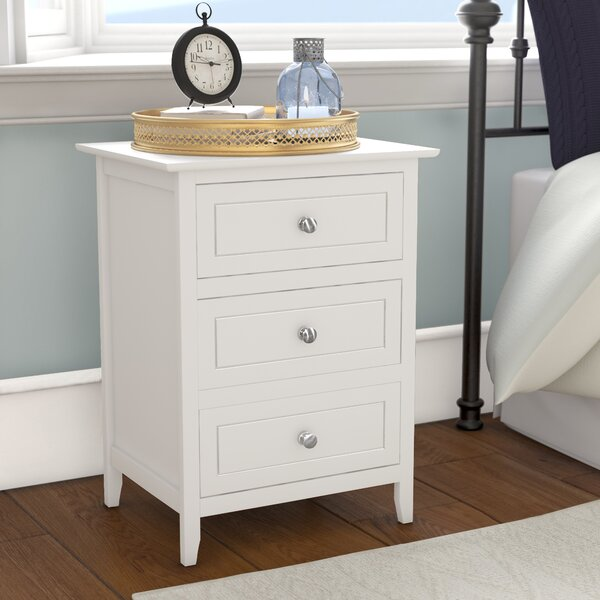 Ovellette 3 Drawer Nightstand by Lark Manor