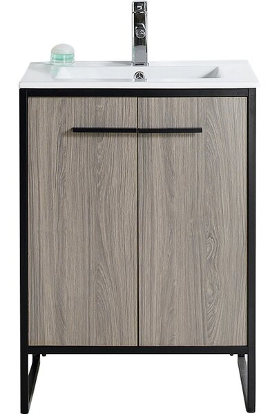 Bourgoin 24 Single Bathroom Vanity Set by Wrought Studio