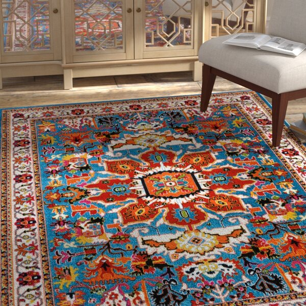 Cullens Blue Area Rug by Bloomsbury Market