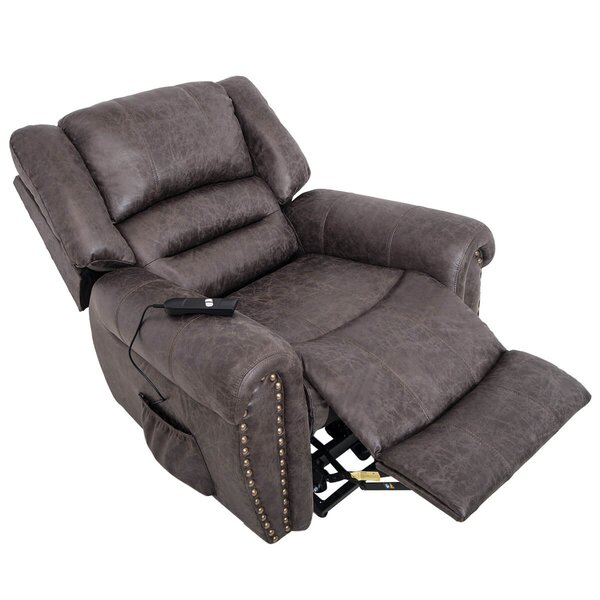 Kasdan Heavy-Duty Power Recliner with Built-In Remote and 2 Castors W003187146