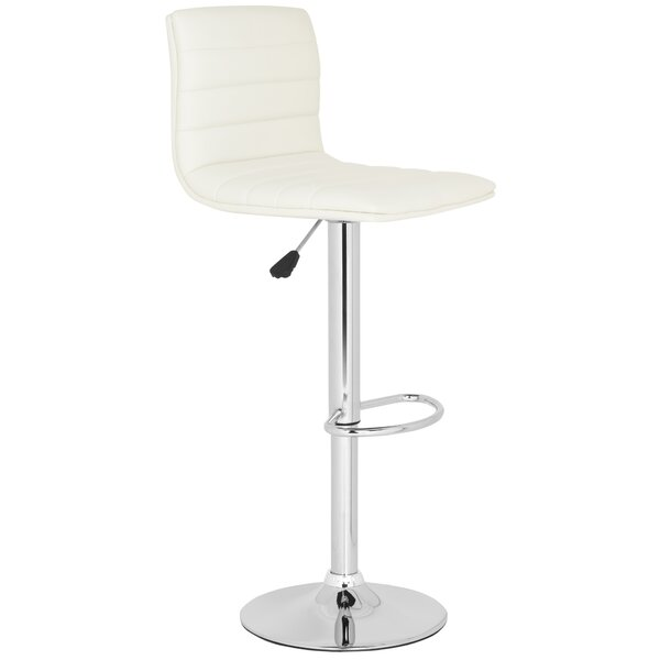 Arissa Adjustable Height Swivel Bar Stool by Safavieh