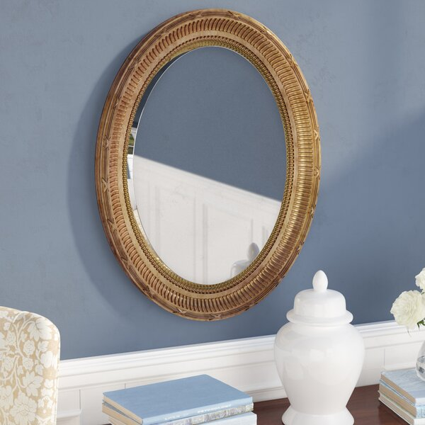 Country Gold Oval Accent Mirror by Darby Home Co