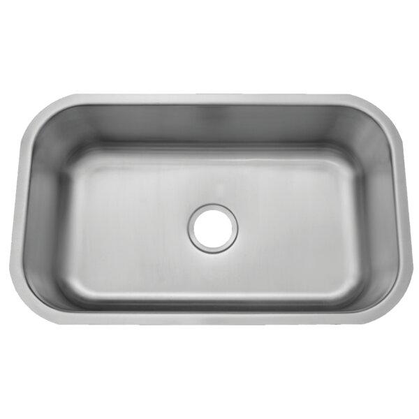 El Camino Stainless Steel 30 L x 18 W Undermount Kitchen Sink
