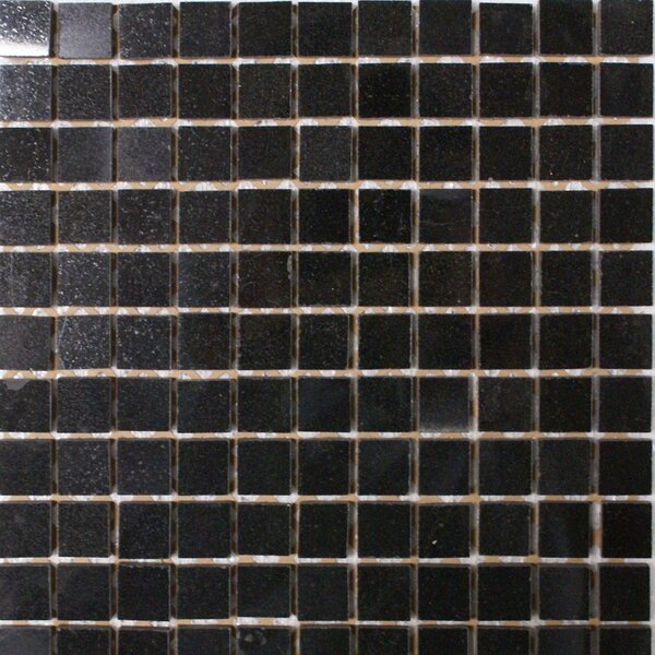 1 x 1 Granite Mosaic Tile in Absolute Black by Epoch Architectural Surfaces