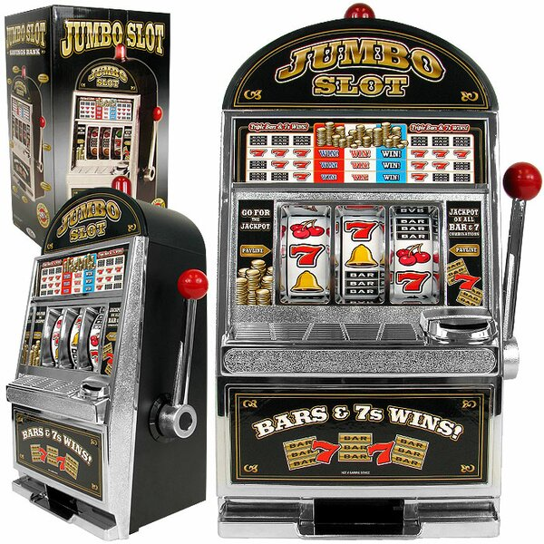 Jumbo Slot Machine Bank - Replication by Trademark Global