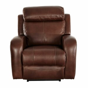 Troian Leather Manual Wall Hugger Recliner by Red Barrel Studio