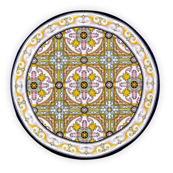 Barns Melamine Dinner Plate (Set of 4) by Bloomsbury Market