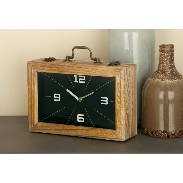 Wood Tabletop Clock by Union Rustic