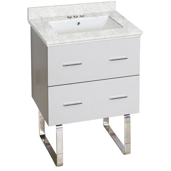 Phoebe Drilling Floor Mount 24 Single Rectangle Bathroom Vanity Set by Orren Ellis