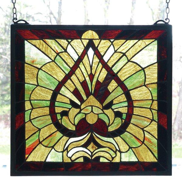 Victorian Spade Stained Glass Window by Meyda Tiffany