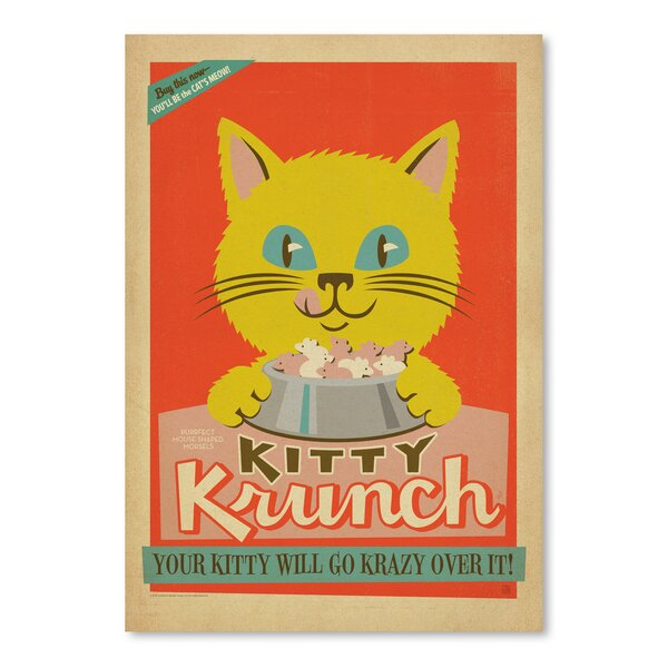 Kitty Krunch Vintage Advertisement by East Urban Home