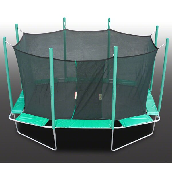 9 x 14 ft. Rectagon Trampoline with Enclosure by K