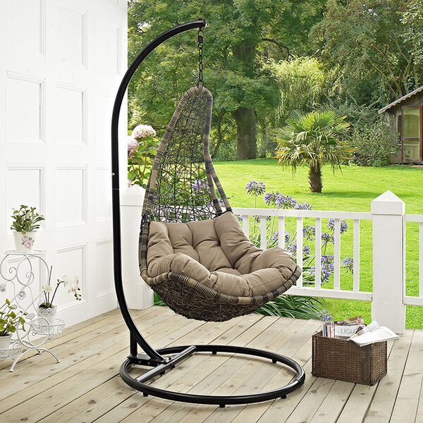 Gemmenne Swing Chair With Stand By World Menagerie by World Menagerie Top Reviews