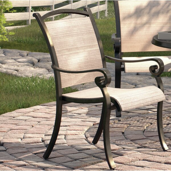 Burgett Patio Dining Chair (Set of 4) by Three Posts