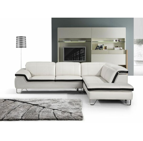 Zion Leather Sectional by Beverly Fine Furniture