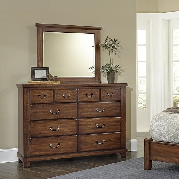 Rambert 8 Drawer Double Dresser With Mirror by Loon Peak
