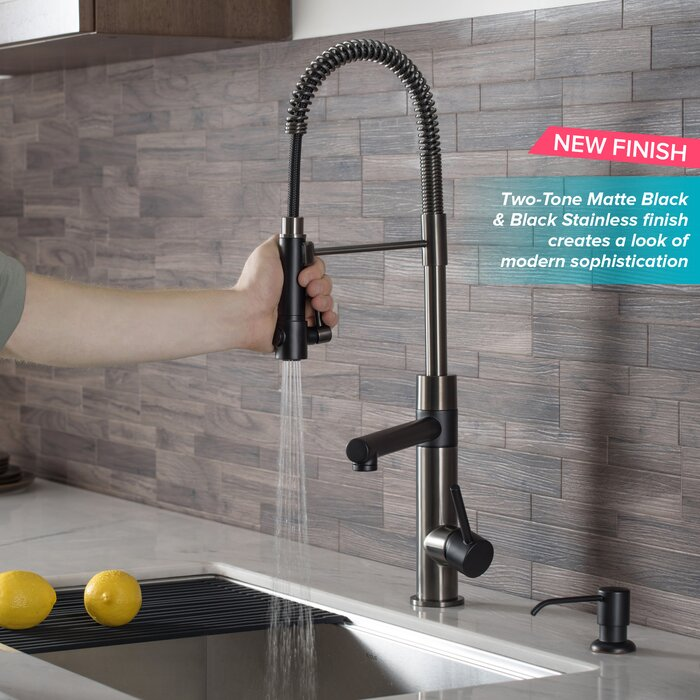 Artec Pro 2-Function Pull Down Single Handle Kitchen Faucet
